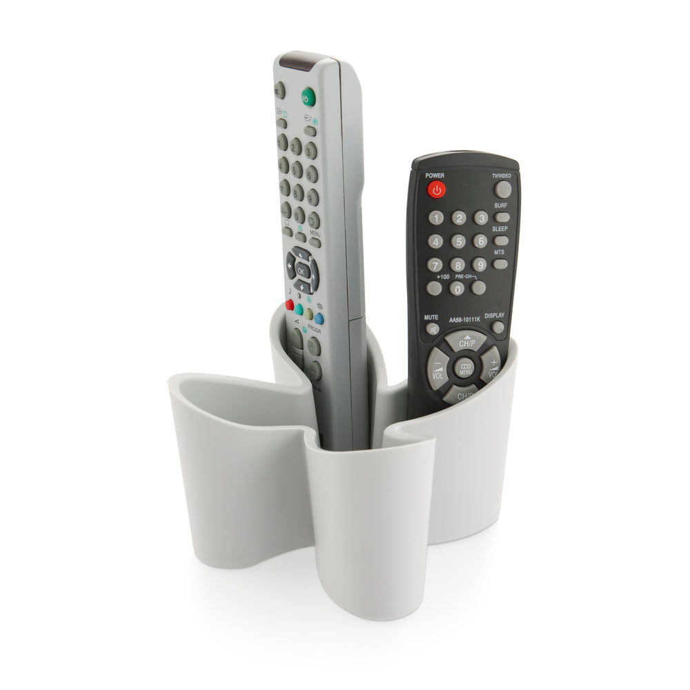 Cozy desk tidy & remote control holder - grey