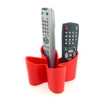 Cozy desk tidy & remote control holder - red