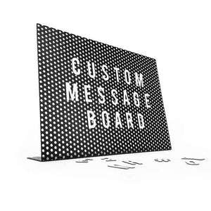 Magnetic desk letter board in black