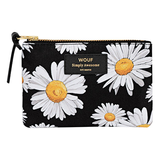 Pouch with daisy and black print in small
