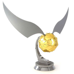Load image into Gallery viewer, Harry Potter Puzzle Golden Snitch Build Your Own 3D Sculpture Metal