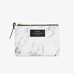Large White Marble Pouch