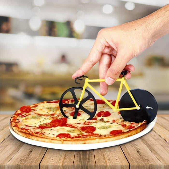 Load image into Gallery viewer, Pizza Cutter Bike Fixie Bumblebee Yellow