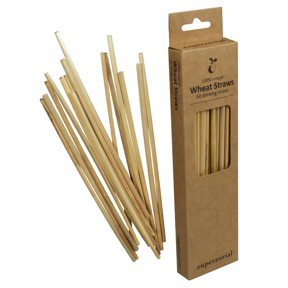 Straws Wheat Disposable Pack of 60