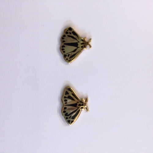 Stud earrings moth shaped in gold by Katy Welsh