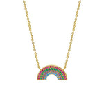 Necklace Rainbow in Gold and Multicolour