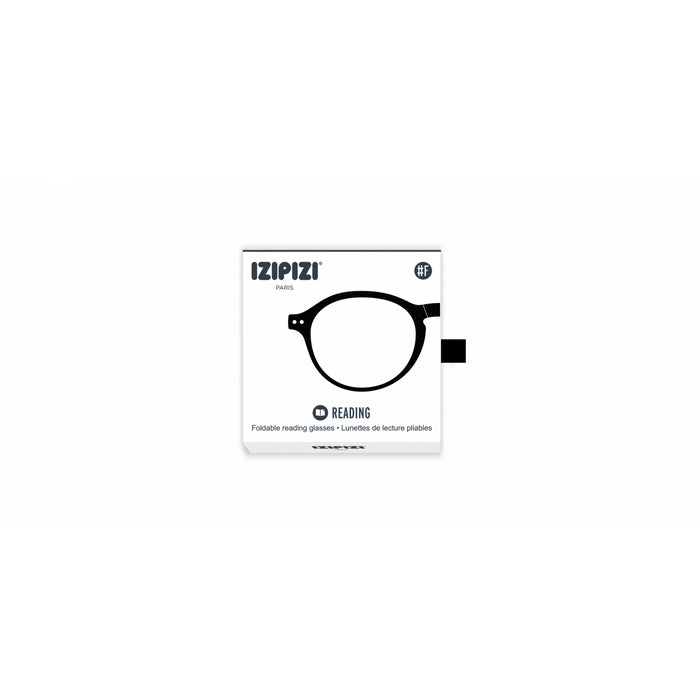 Reading glasses - shape F black | +2