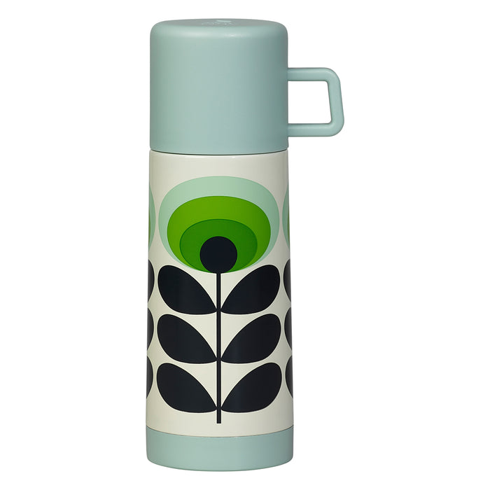 70s Oval flower green Orla Kiely flask Home Wild & Wolf - Brand Academy Store