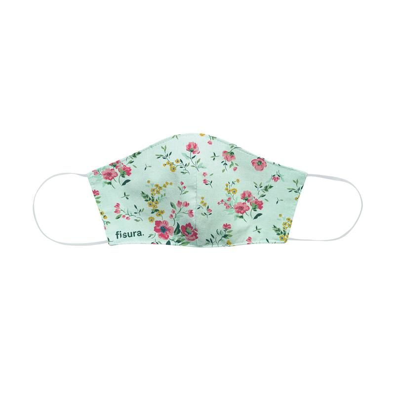 Mask Adult Face Covering Wild Flowers Pastel Green
