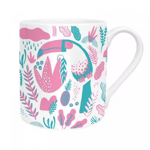Mug with 'Tropical Toucan' in white by Hello!Lucky