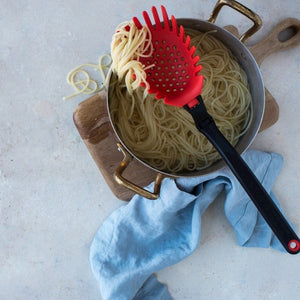 Pasta Server & Holey Ladle Strainer - Red Spadle