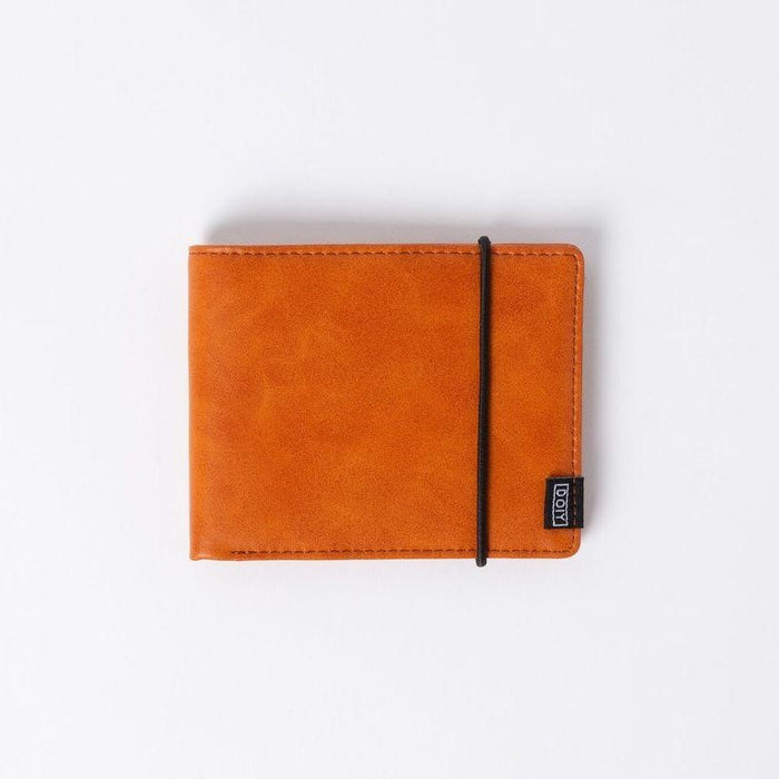 Wallet in brown faux leather