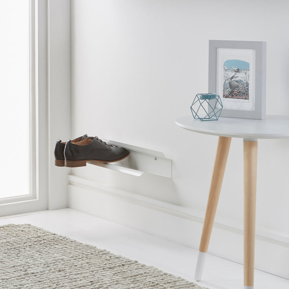 Floating shoe rack 400mm in White Home j-me - Brand Academy Store
