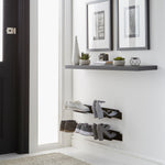 Floating shoe rack 700mm in Black Home j-me - Brand Academy Store