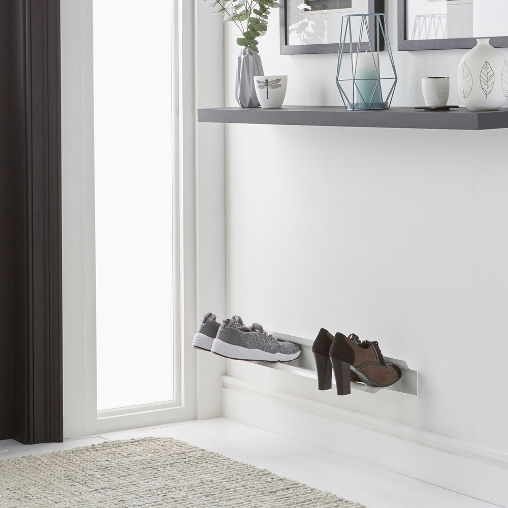 Floating shoe rack 700mm in White Home j-me - Brand Academy Store