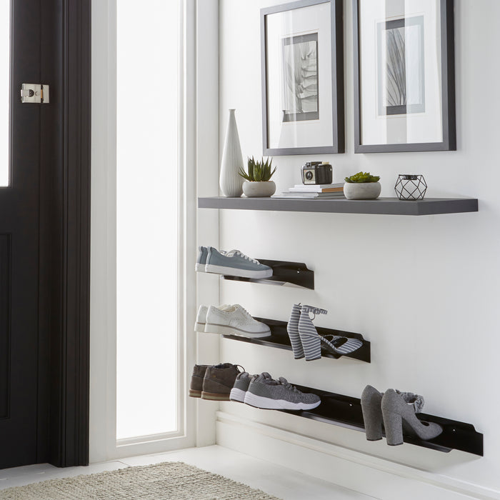 Floating shoe rack 1200 mm in black Home j-me - Brand Academy Store