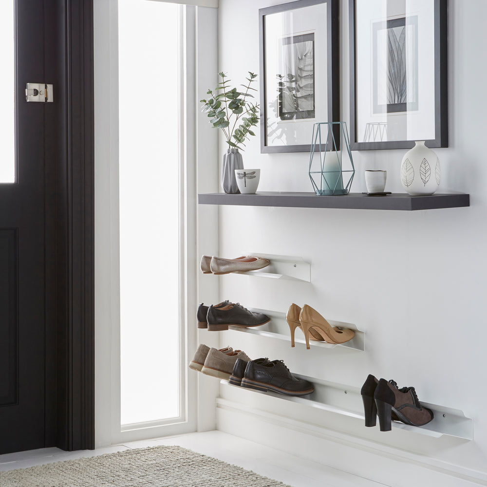Load image into Gallery viewer, Floating shoe rack 400mm in White Home j-me - Brand Academy Store