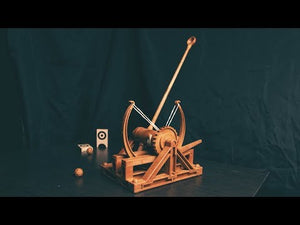 Load and play video in Gallery viewer, Da Vinci Collection Catapult Machine Model Kit
