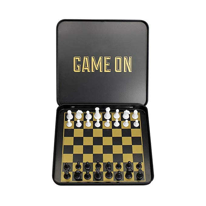 Chess set magnetic mini travel size by Iron and Glory - Game on