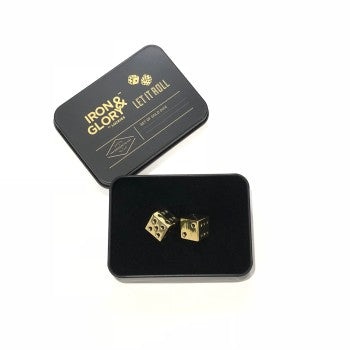 Dice in Gold Set of Two | Iron and Glory Let it roll
