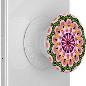 Load image into Gallery viewer, Mobile accessory expanding hand-grip and stand Popsocket in multicolour orchid flower mandala