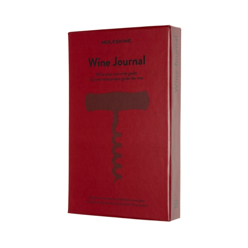 Moleskine Journal for wine recording and personalising in Bordeaux red