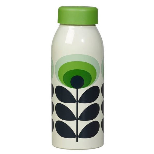 Insulated steel 70s green Orla Kiely oval flower bottle Insulated Bottle Wild & Wolf - Brand Academy Store
