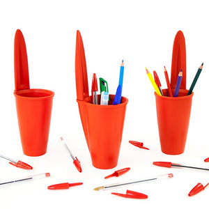 Load image into Gallery viewer, Desk tidy Bic pen lid  | Red