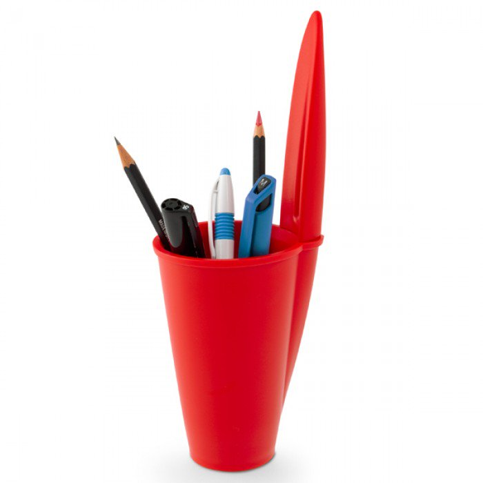 Desk tidy Bic pen lid  | Red