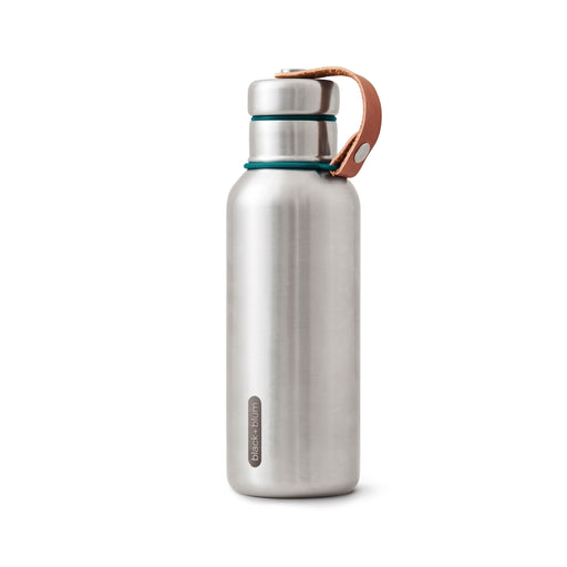 Insulated water bottle from stainless steel in ocean blue