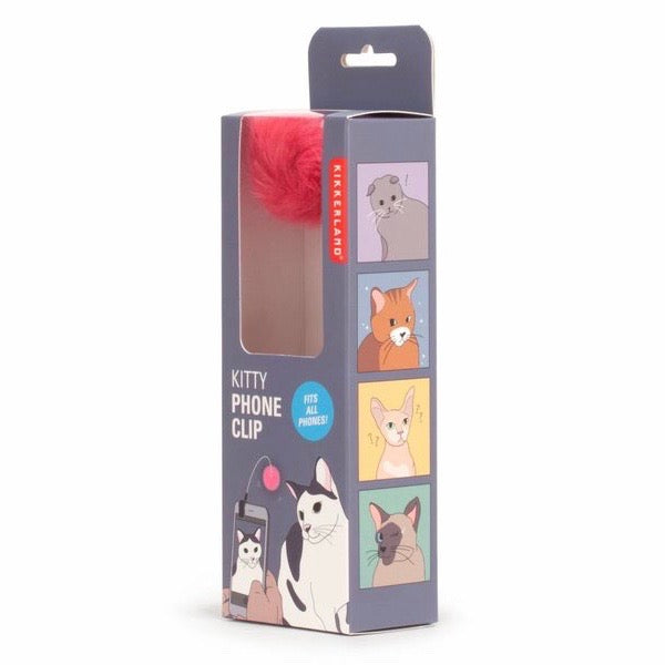 Cat toy phone clip for kittens