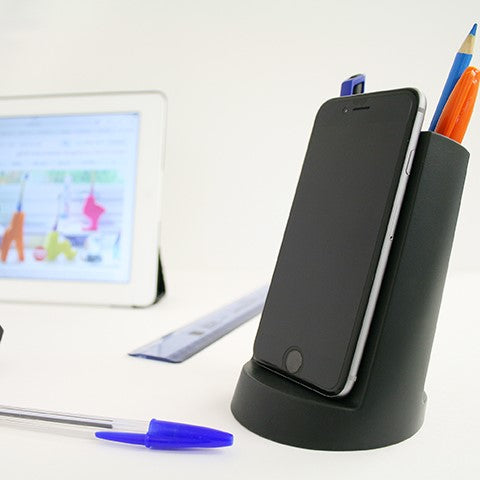 Lean desk tidy in black Stationery j-me - Brand Academy Store