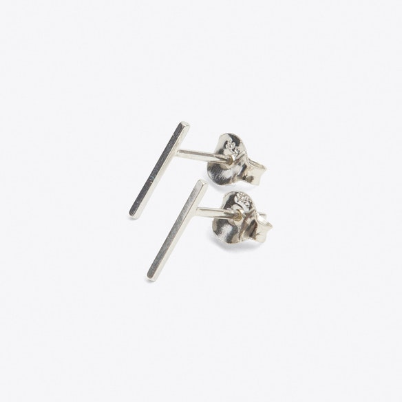 Stud earrings in gift bottle with thin wire design from solid sterling silver