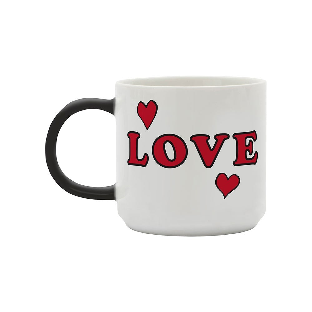 Mug with Snoopy Peanuts Comic 'Love' in white and black