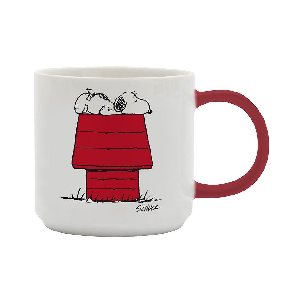 Mug with Peanuts Snoopy 'Allergic to mornings' in white