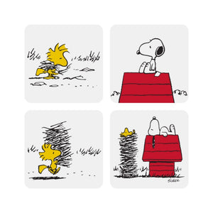Snoopy Coasters Peanuts Comic Cartoon White