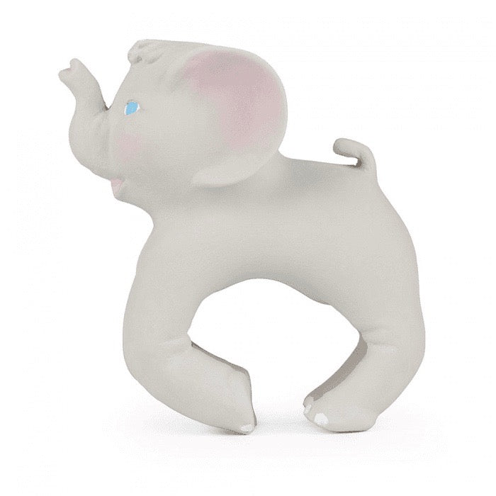 Baby teether toy bracelet Elephant in grey made from natural rubber