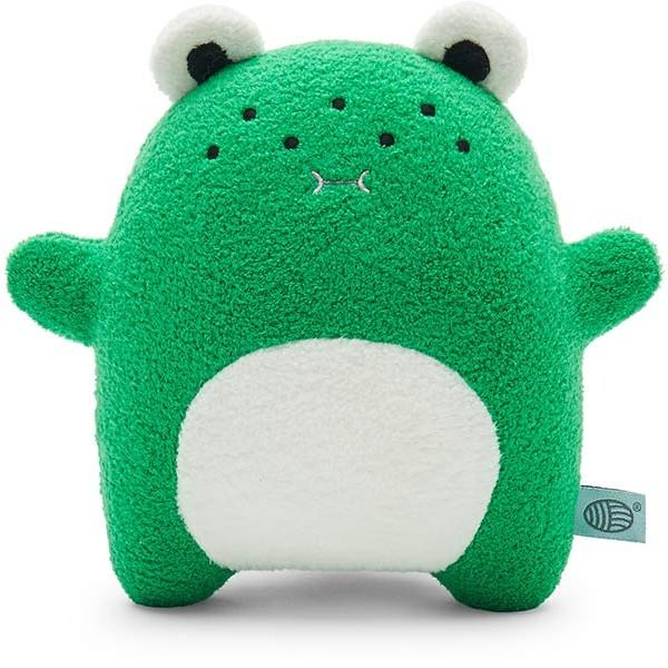 Frog plush soft toy for children 'Ricecharming' in green