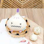Garlic mini plush soft toy for children 'Ricegarlic' in cream