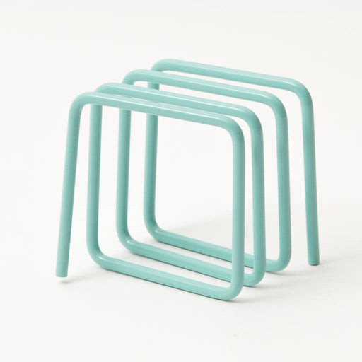 Letter rack in mint blue