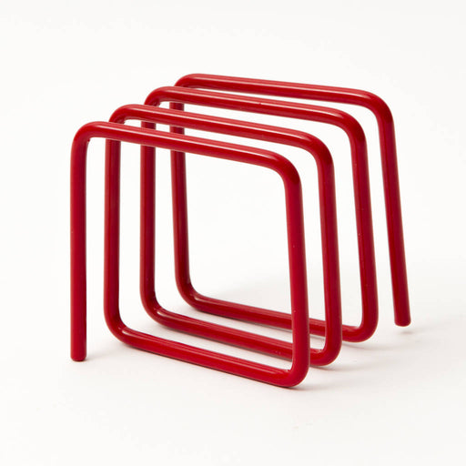 Letter rack in ruby red