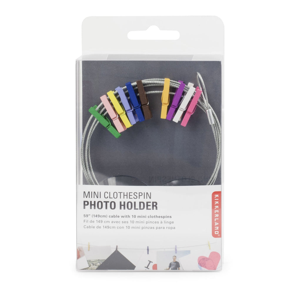 Mini clothespin photo holder Home KIKKERLAND - Brand Academy Store