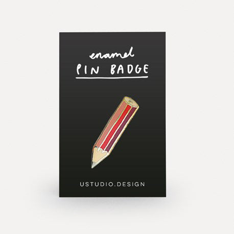 Load image into Gallery viewer, Cute pencil pin badge