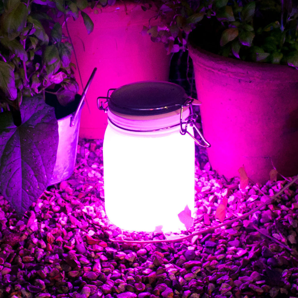 Load image into Gallery viewer, Sun Jar - Solar Powered Light Pink