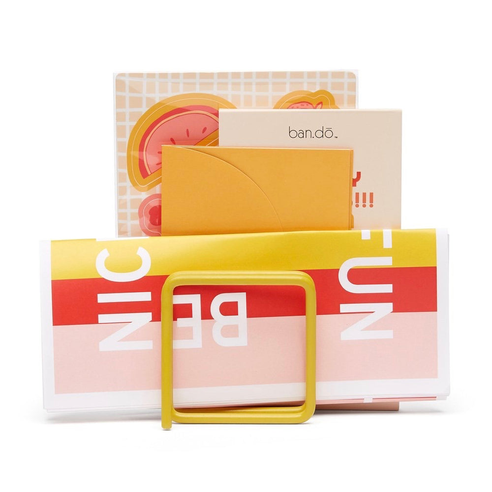 Letter rack in sushine yellow