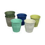Bamboo Cups Set of 6 Breeze Green Grey Blue