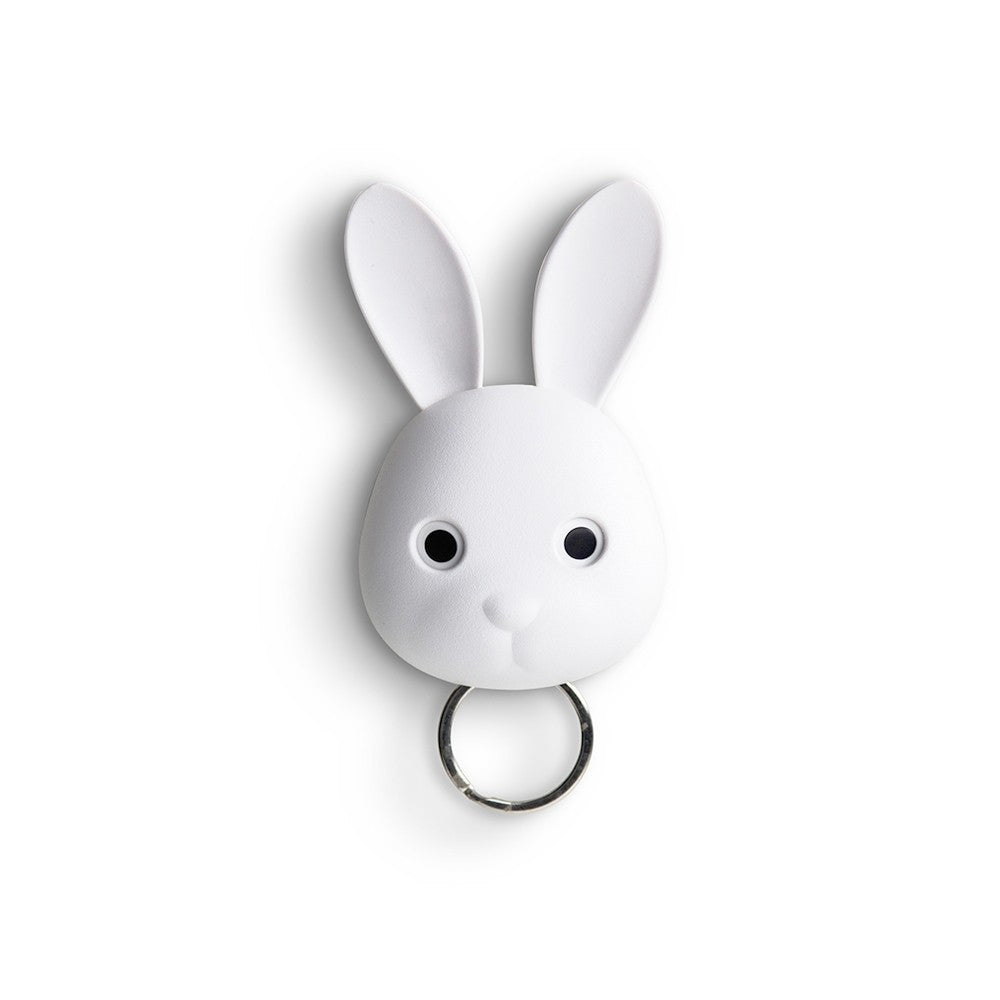 Keys holder wall mounted Bunny Rabbit in white