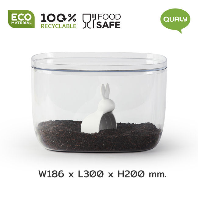 Load image into Gallery viewer, Jar Storage Container Food Bella Bunny 7L Transparent Including Rabbit Shape Scoop