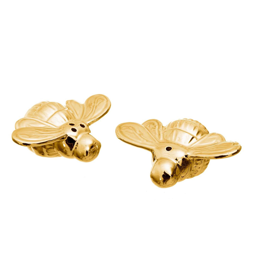 Salt and Pepper Shakers Queen Bees Gold