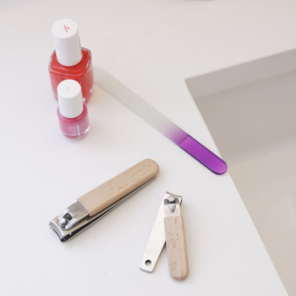 Wood nail clipper set Beauty KIKKERLAND - Brand Academy Store